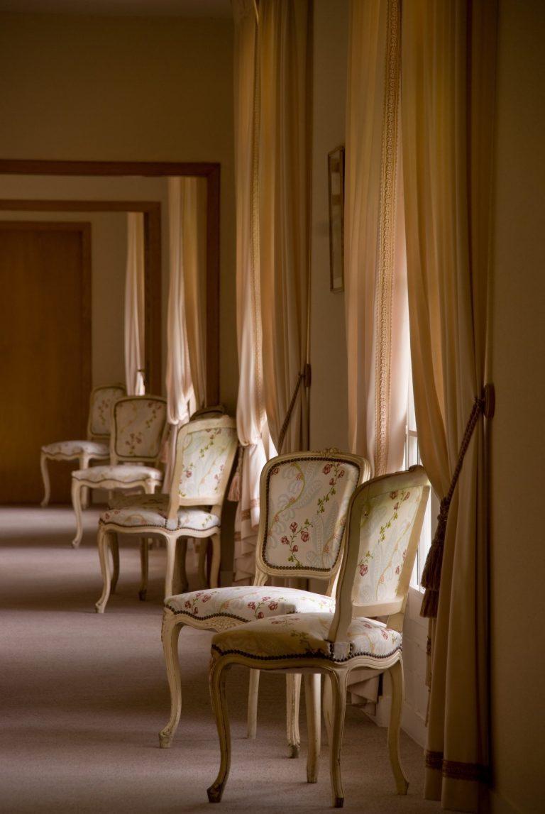 couloir du Relais de Margaux face aux chambres